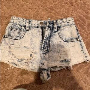 High rise forever 21 jean shorts